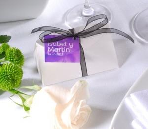 Cajita original para detalles de boda