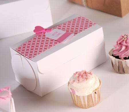 Cajita cerrada para dos cupcakes