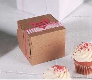Caja para un cupcake decorada
