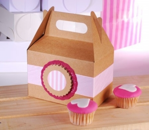 Caja tipo picnic para cupcakes