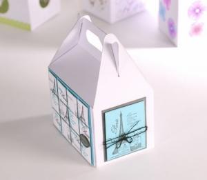 Caja de picnic decorada con scrapbooking