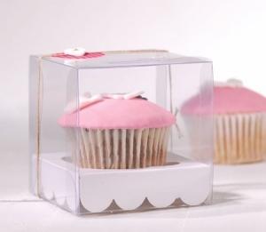 Caja para un cupcake para comunión