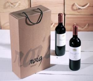 Scatola serigrafata per due bottiglie