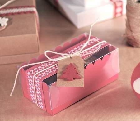 Little box for two Christmas cupcakes