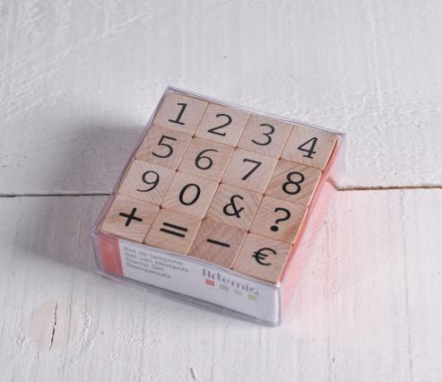 Stamp number set
