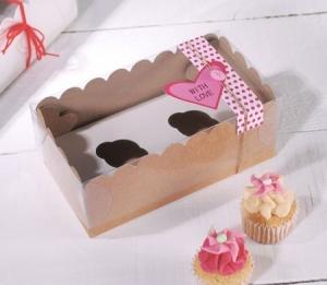 Box for 2 mini cupcakes