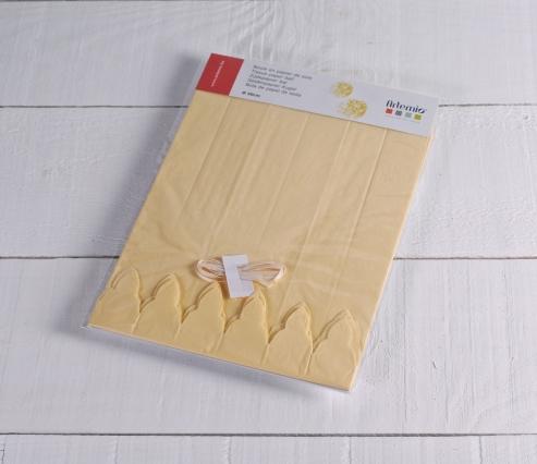 Pompón de papel crepe marfil