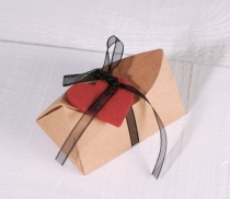 Simple triangular gift box