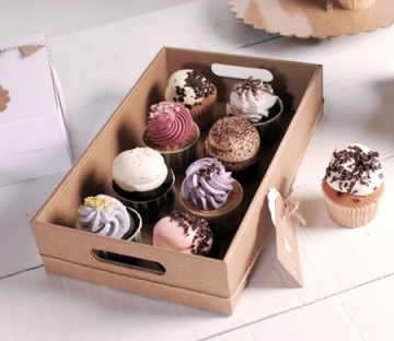 Cardboard tray for Muffins