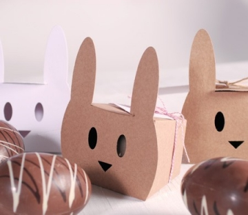 Rabbit-shaped box with baker's twine