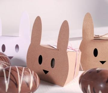 Scatola coniglio con baker's twine