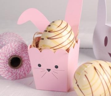 Scatola da pop corn con orecchie da coniglio