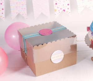 Caja para tartas decoradas