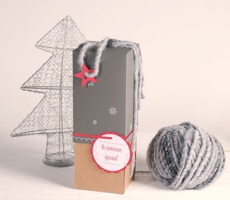 Christmas box for bottles