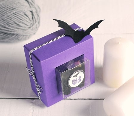 Caja transparente para Halloween