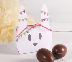 Simpatica scatola a forma di coniglio per Pasqua