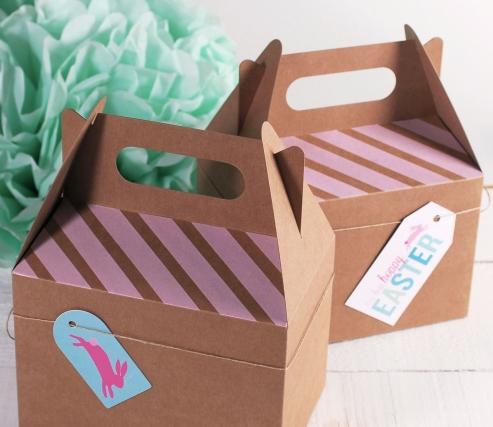 Caja picnic decorada para Pascua
