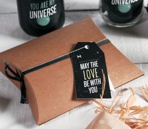 Scatola regalo con decorazione di Star Wars