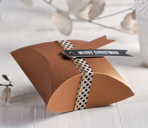 Caja regalo navideña para joyas