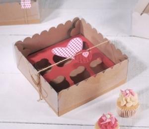 Box for 6 mini cupcakes