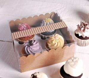 Scatola per 4 cupcake