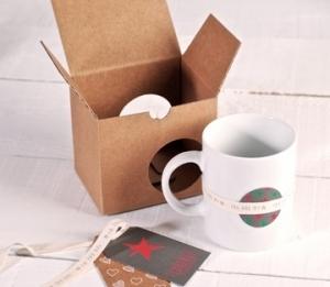 Scatola decorata per tazze