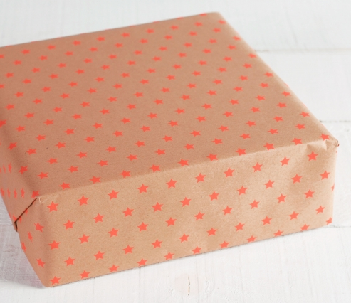 Wrapping paper with stars