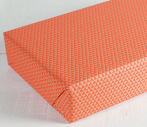 Wrapping paper with triangles