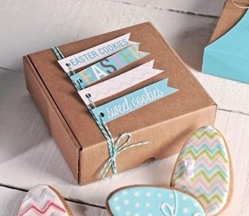 Caja automontable para galletas