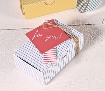 Caja impresa para tarjetas