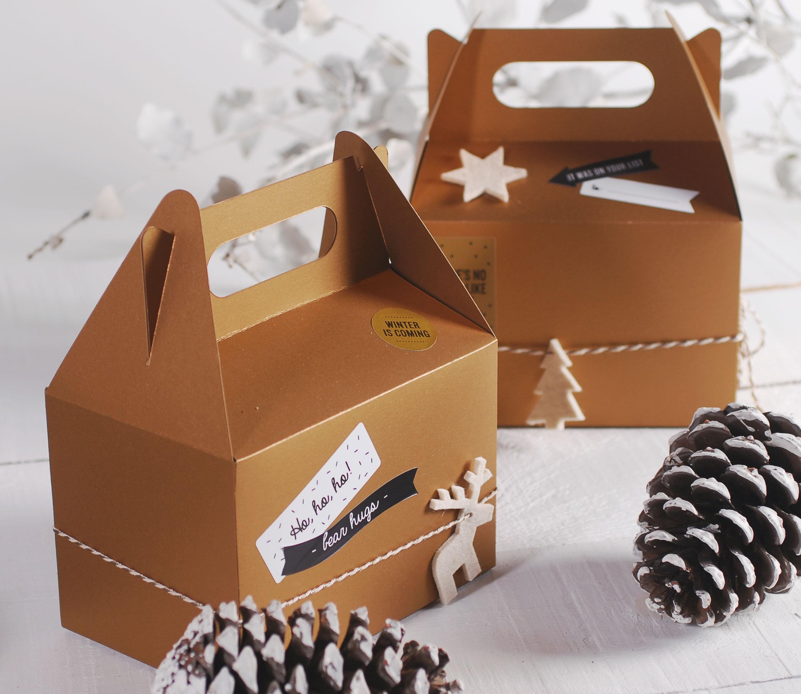 Confezioni Per Regali Di Natale.Scatola Da Picnic Per Regali Di Natale Selfpackaging