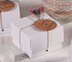 White box for wedding favours