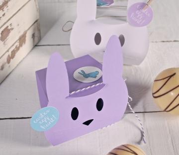 Cajita lila para fiestas infantiles