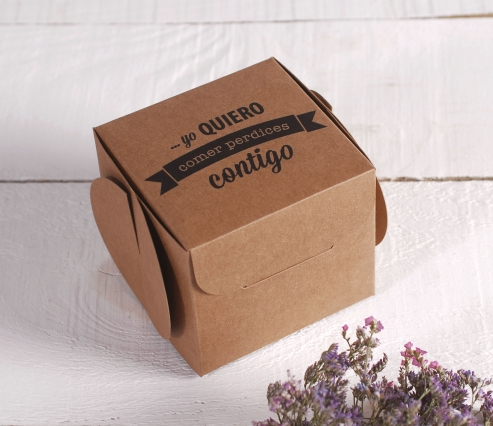 Cajas de regalo impresas. Comer Perdices