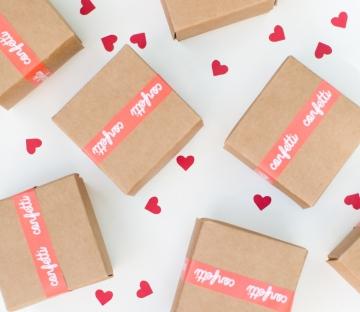 Cajita de bodas para confetti