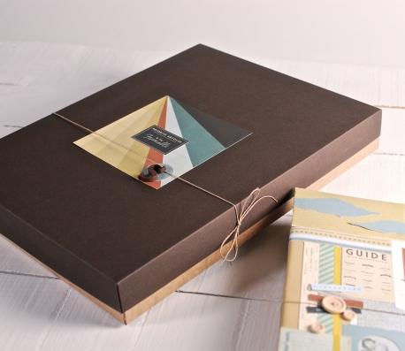 Caja para álbumes de fotos decorada