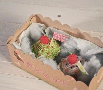 Caja para cupcakes de ganchillo