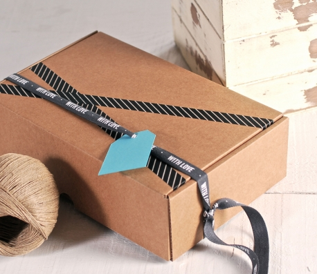 """Rectangular box with Ribbon """"With Love"""""""