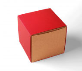 Caja regalo cuadrada con faja