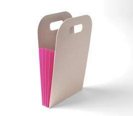Sacchetto in cartone a soffietto con adesivi personalizzati 13 x 13 cm