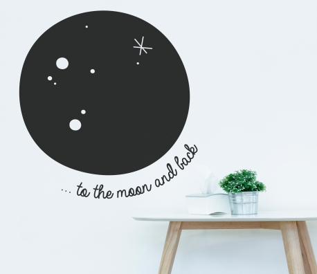 Moon wall vinyl