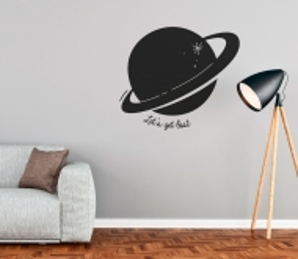 Dekorativer Wandaufkleber mit Planeten