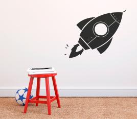 Vinilo para niños con Cohete