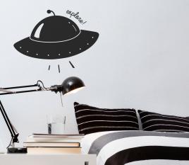 Adesivo per bambini navicella spaziale
