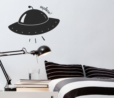 Vinilo infantil nave espacial