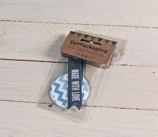 Chevron & Flag gift label kit