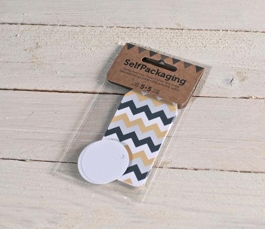 Chevron + Round gift label kit