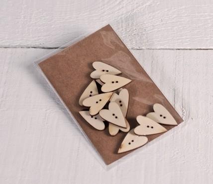 Wood Buttons Heart