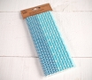 Pajitas de papel decoradas en azul