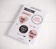 "Decorative stickers ""Love is in the air"""